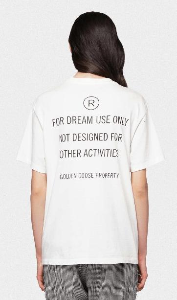 Golden Goose - T-shirts per DONNA online su Kate&You - G36WP024.C1 K&Y6302