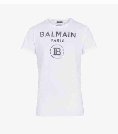 Balmain T-Shirts & Vests En coton avec logo Balmain blanc Kate&You-ID2013