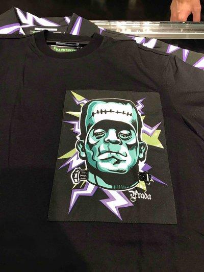 Prada - T-shirts & canottiere per UOMO Printed Frankenstein T-shirt online su Kate&You - UJN317 K&Y1594