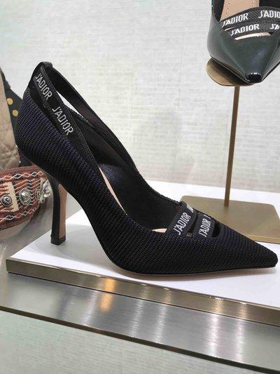 Dior Pumps Escarpin J'Adior en tissu technique noir Kate&You-ID1534