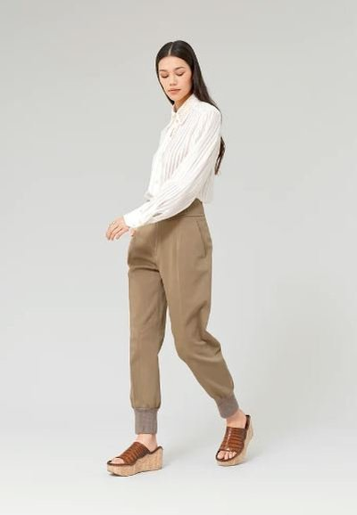 Chloé - High-Waisted Trousers - for WOMEN online on Kate&You - CHC21APA7104820J K&Y11989