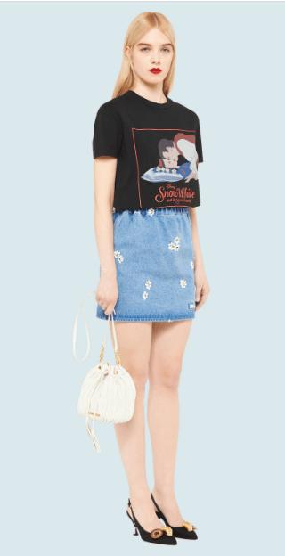 Miu Miu - T-shirts per DONNA online su Kate&You - MJN192_1WO8_F0002 K&Y7016
