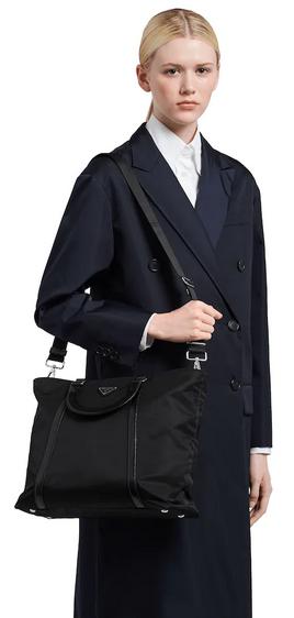 Сумки на плечо - Prada для ЖЕНЩИН Fourre-tout moyen en nylon et cuir онлайн на Kate&You - 1BG285_789_F0008_V_NOO - K&Y8405