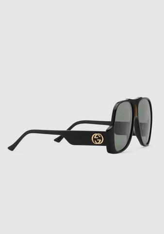 Солнцезащитные очки - Gucci для МУЖЧИН Lunettes de soleil aviateur онлайн на Kate&You - 632688 J0740 1033 - K&Y8391