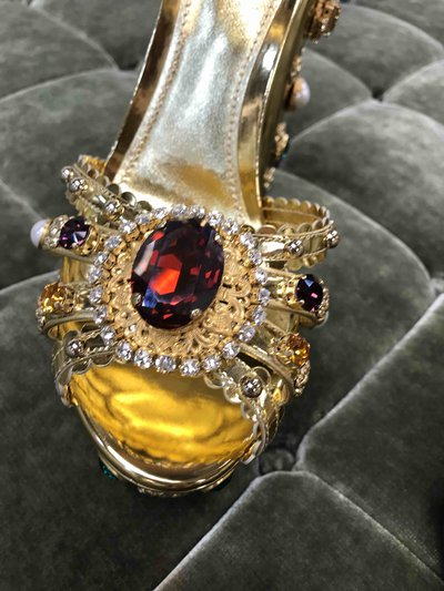 Босоножки  - Dolce & Gabbana для ЖЕНЩИН Kheira Oro Chiaro/Nudo онлайн на Kate&You - CR0787 AK834 8D680 - K&Y1468
