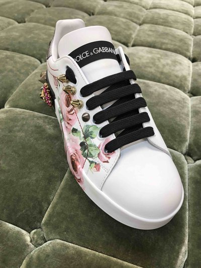 Dolce & Gabbana - Sneakers per DONNA Snickers Portofino Rose Embellished online su Kate&You - K&Y1473