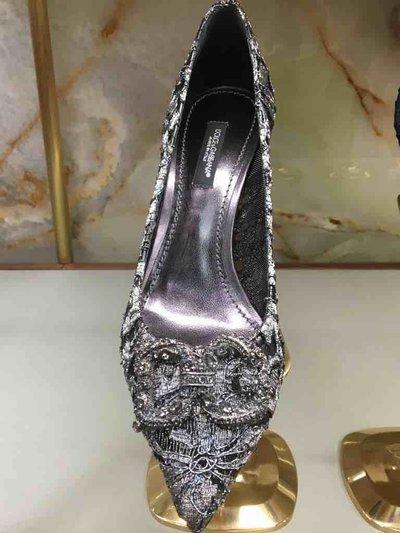 Dolce & Gabbana - Pumps per DONNA Escarpins en dentelle à logo DG Amore online su Kate&You - K&Y1556