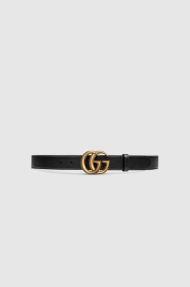 Gucci Belts Ceinture en cuir avec boucle double G Kate&You-ID8639