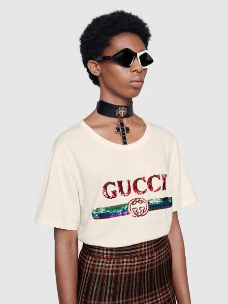 Gucci - T-shirts pour FEMME online sur Kate&You - 492347 XJARM 7136 K&Y5931