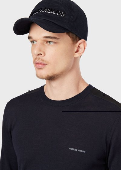Giorgio Armani - Hats - for MEN online on Kate&You - 7473769A507100035 K&Y2549