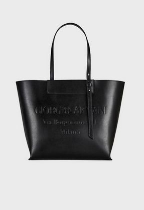 Giorgio Armani - Sac à main pour FEMME Sac cabas en cuir avec logo estampillé ton sur ton online sur Kate&You - Y1D133YEC9A184389 K&Y8362