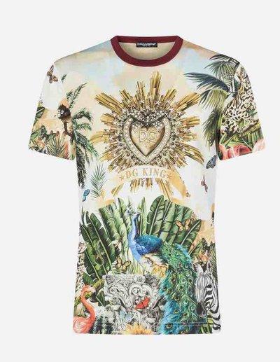 Футболки и майки - Dolce & Gabbana для МУЖЧИН imprimé en coton King онлайн на Kate&You - ST 20193 - K&Y1731
