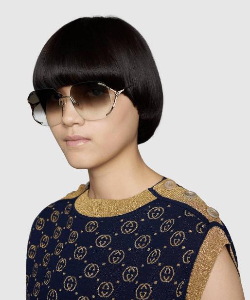 Солнцезащитные очки - Gucci для ЖЕНЩИН онлайн на Kate&You - 610393 I3330 8025 - K&Y6018