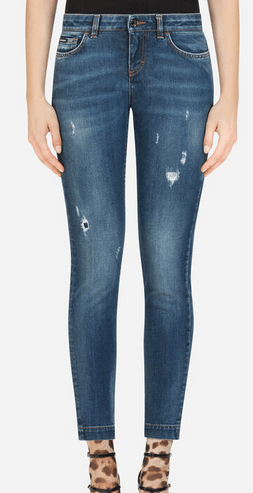 Dolce & Gabbana Cropped Jeans Jean fit pretty en denim stretch Kate&You-ID8522