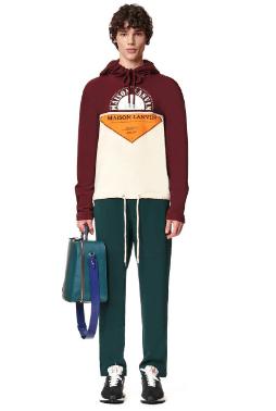 Lanvin Sweatshirts PULL À CAPUCHE IMPRIMÉ PATCHWORK Kate&You-ID8524
