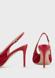 Giorgio Armani - Escarpins pour FEMME Escarpins slingback en satin tressé online sur Kate&You - X1E837XM4091C962 K&Y8354