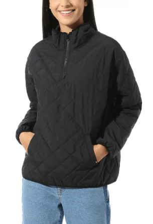 Vans Bomber Jackets ANORAK QUILTED V MOCK Kate&You-ID8607