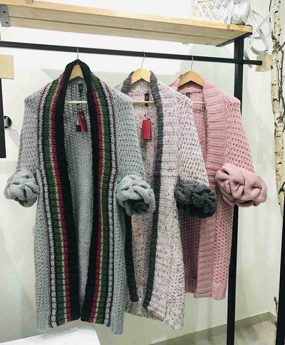 LOOM Weaving  - Cappotto monopetto per DONNA Cardigan online su Kate&You - 11 K&Y4358
