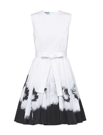 Prada Short dresses Popeline imprimée Kate&You-ID11183
