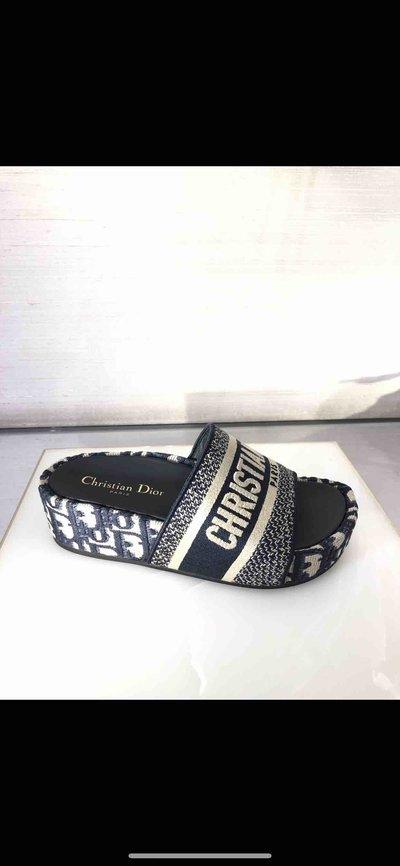 Dior - Mules pour FEMME Mules Dway en coton brodé online sur Kate&You - K&Y2296
