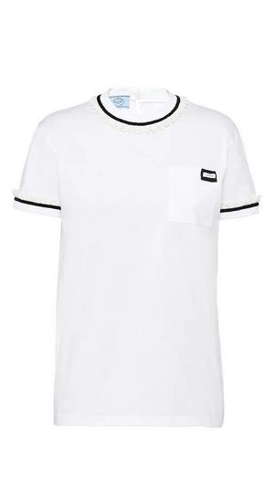 Prada - T-shirts pour FEMME online sur Kate&You - 3532A_1XRO_F0009_S_202 K&Y9530