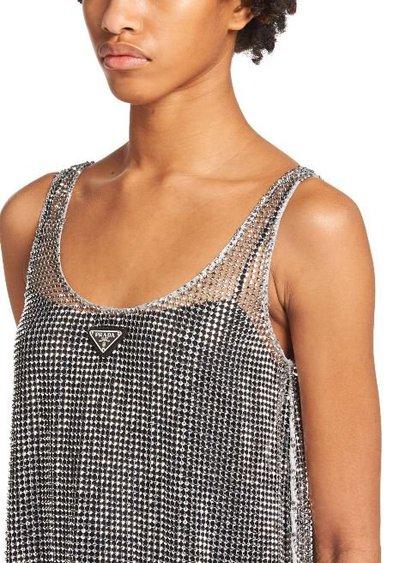 Prada - Short dresses - Mini-robe for WOMEN online on Kate&You - P3F40R_1WPH_F0518_S_212 K&Y11181