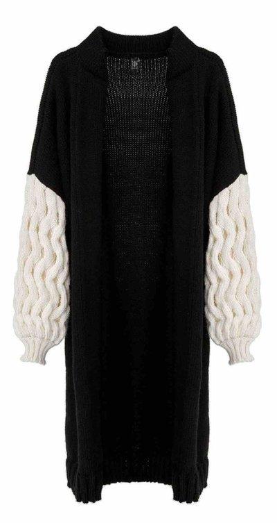 Однобортные пальто - LOOM Weaving  для ЖЕНЩИН Cardigan онлайн на Kate&You - 12 - K&Y4357