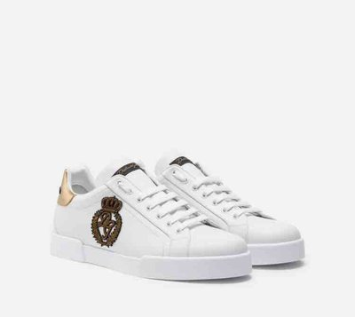 Dolce & Gabbana - Sneakers per UOMO Portofino avec écusson couronne online su Kate&You - K&Y2144