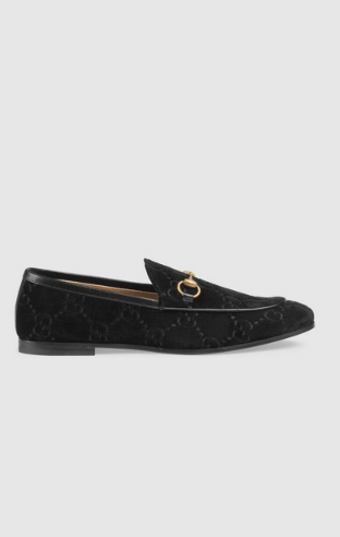 Gucci Loafers Mocassins Gucci Jordaan en velours GG Kate&You-ID8388