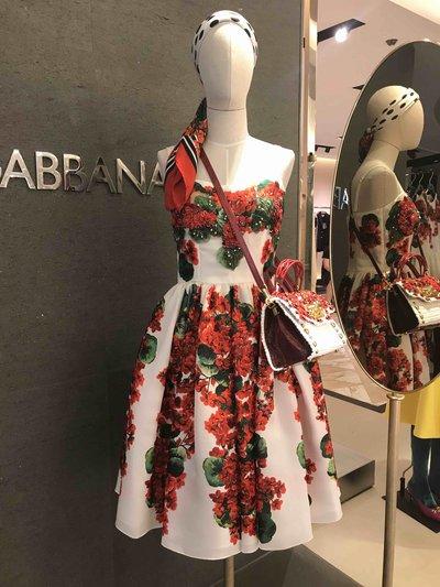Dolce & Gabbana - Robes Courtes pour FEMME Robe imprimé Portofino online sur Kate&You - F6D4SZ K&Y1583