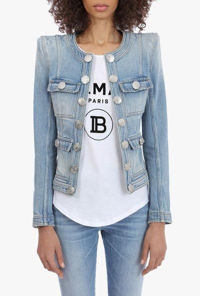 Balmain - Vestes en Jean pour FEMME online sur Kate&You - SF17874D0676FC K&Y1828