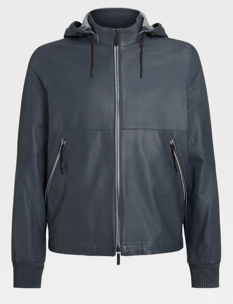 Ermenegildo Zegna Leather Jackets Kate&You-ID9313