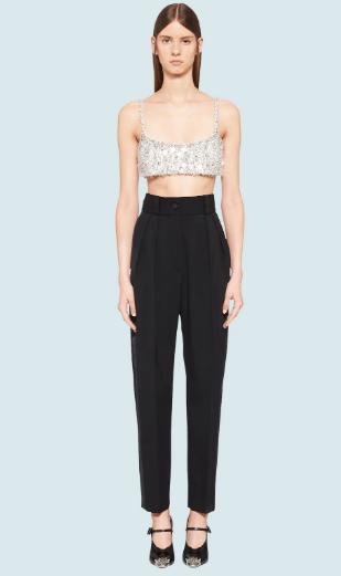 Прямые брюки - Miu Miu для ЖЕНЩИН онлайн на Kate&You - MP1424_1R1_F0002 - K&Y10177