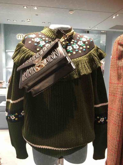 Miu Miu Sweaters Pull en laine avec volants Kate&You-ID1520