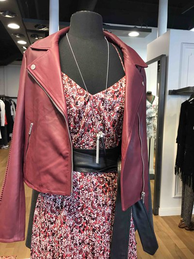 Ikks Leather Jackets W BLO cuir Kate&You-ID1362