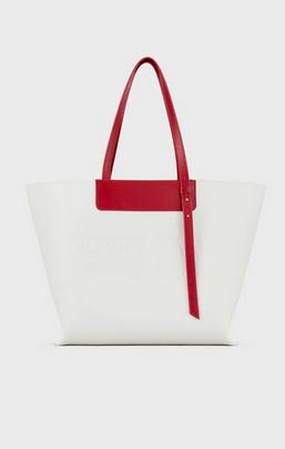 Giorgio Armani Tote Bags Sac cabas en cuir avec logo estampillé ton sur ton Kate&You-ID8362
