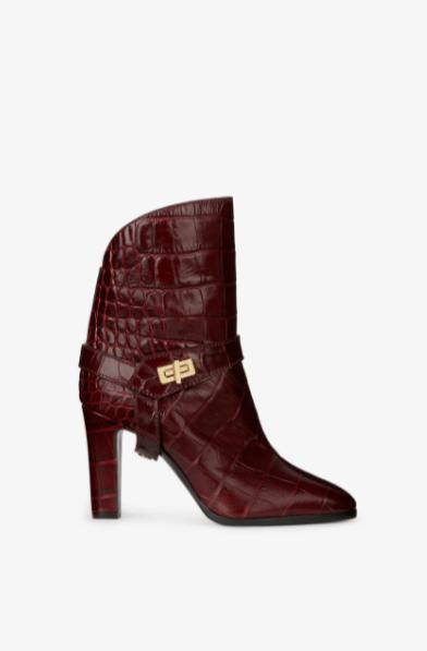 Givenchy Boots BOTTINES EDEN EN CUIR FAÇON CROCODILE Kate&You-ID8614
