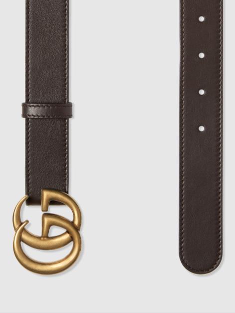 Ремни - Gucci для МУЖЧИН Ceinture en cuir avec boucle double G онлайн на Kate&You - 414516 AP00T 1000 - K&Y8639