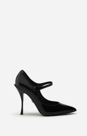 Dolce & Gabbana Escarpins BABIES EN CUIR DE VEAU BRILLANT Kate&You-ID8583