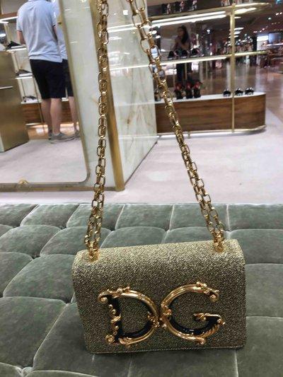 Dolce & Gabbana - Mini Sacs pour FEMME Sac à bandoulière de la ligne DG Girls en lurex so online sur Kate&You - Sac à bandoulière de la ligne DG Girls en lurex souple K&Y1525