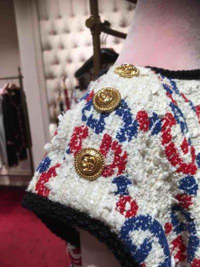 Gucci - Robes Courtes pour FEMME Robe en tweed Sylvie avec motif GG online sur Kate&You - 583342 ZABIL 9692 K&Y1545