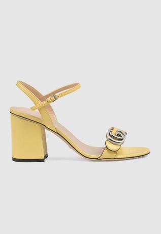 Gucci Sandals Sandales à talon moyen avec Double G pour femme Kate&You-ID8372