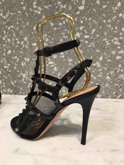 Valentino Garavani - Sandals - Sandales Rockstud Noire for WOMEN online on Kate&You - K&Y1493