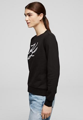 Karl Lagerfeld - Sweatshirts & Hoodies - SWEAT KL SIGNATURE for WOMEN online on Kate&You - 201W1880 K&Y8619