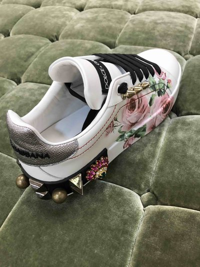 Dolce & Gabbana Trainers Snickers Portofino Rose Embellished  Kate&You-ID1473