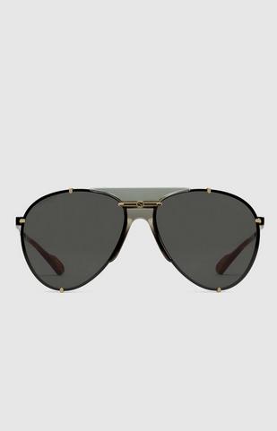 Gucci - Sunglasses - Lunettes de soleil aviateur en métal for MEN online on Kate&You - 624148 I3330 8012 K&Y8395