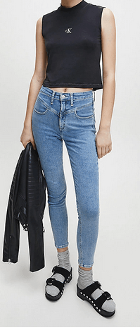 Calvin Klein - Jeans skinny per DONNA online su Kate&You - J20J214189 K&Y8811