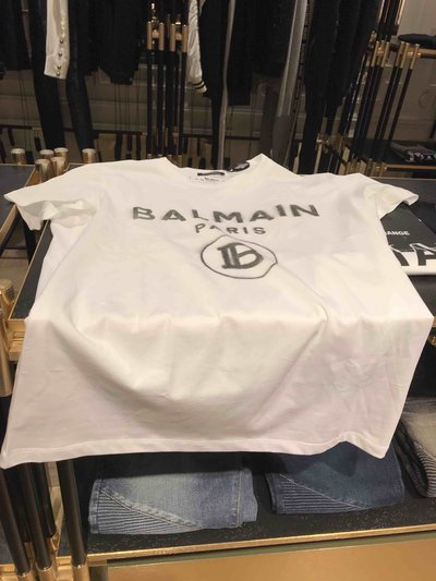 Balmain - T-shirts & canottiere per UOMO En coton avec logo Balmain blanc online su Kate&You - K&Y2013