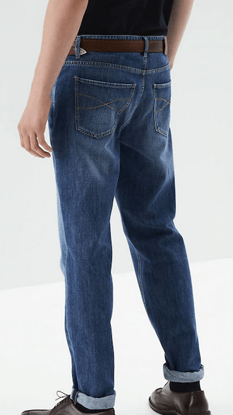 Brunello Cucinelli - Jeans cropped per UOMO online su Kate&You - 202M0Z37D2210 K&Y9589