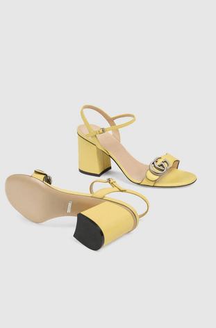 Gucci - Sandals - Sandales à talon moyen avec Double G pour femme for WOMEN online on Kate&You - 628012 A3N00 3926 K&Y8372
